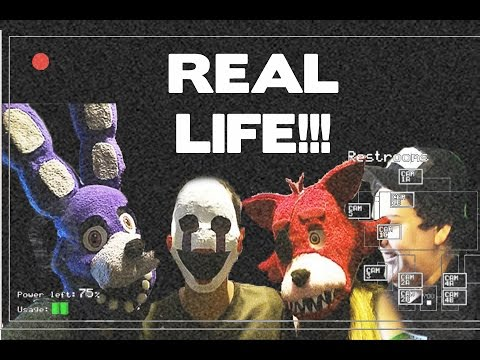 Five Nights at Freddy's IN REAL LIFE!!! - YouTube