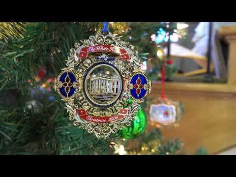White House Christmas Ornaments On Display at BV Historical Society