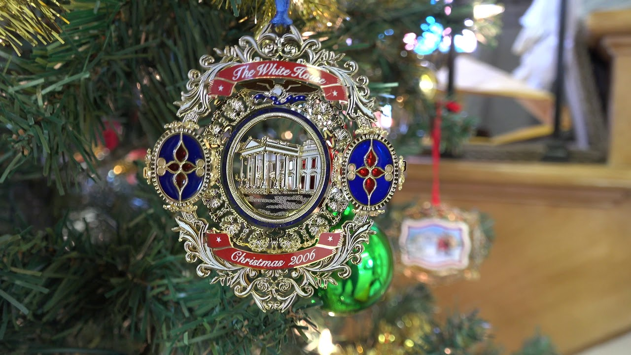 White House Christmas Ornaments On Display At BV Historical Society
