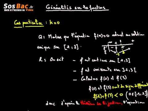 Généralités sur les fonctions cours 8 : 2 BAC International