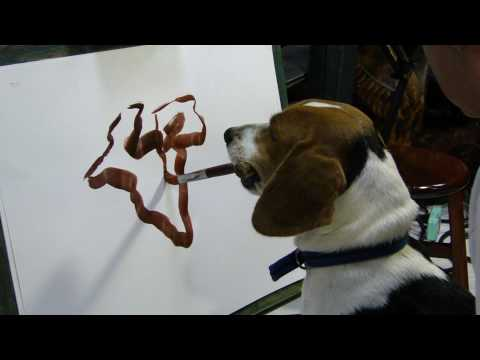 A Dog knows how to paint