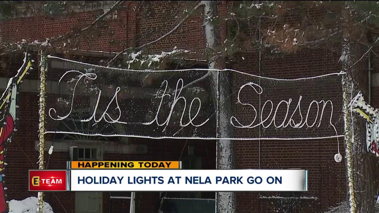 Holiday lights at Nela Park go on