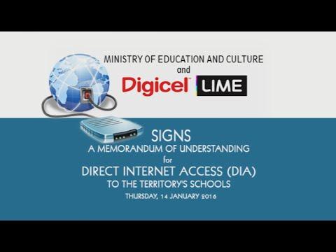 Memorandum of Understanding - Direct Internet Access (DIA) to the Territory's Schools