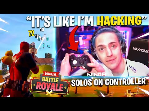 NINJA TRIES FORTNITE WITH A CONTROLLER!