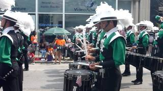 Cavaliers Drum Corp Marching in Evanston July 4th parade