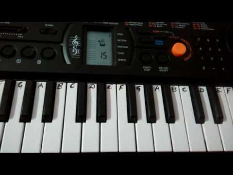 Kala Chashma ~ Baar Baar Dekho~ Casio Keyboard Cover ~Easy Notes for Beginners (Slowly Played)