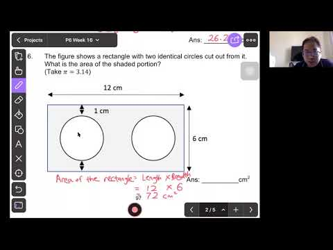 P6 Math : Area of Circle and Composite Figure (Test)