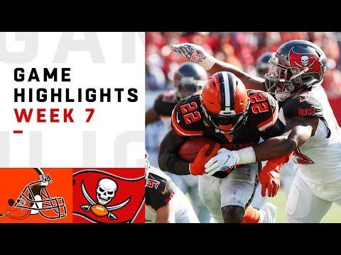 Browns vs. Buccaneers Week 7 Highlights | NFL 2018