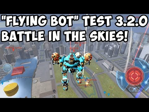 War Robots HOVER Flying Bot Test - BATTLE IN THE SKIES