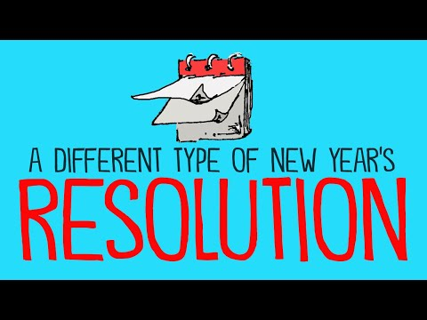 A different kind of New Year's Resolution