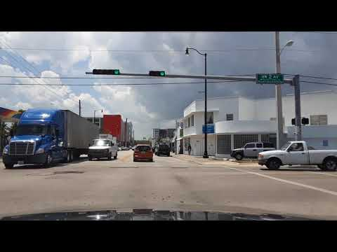 Miami, FL. Driving from N. Miami to Little Havana. April 25, 2018