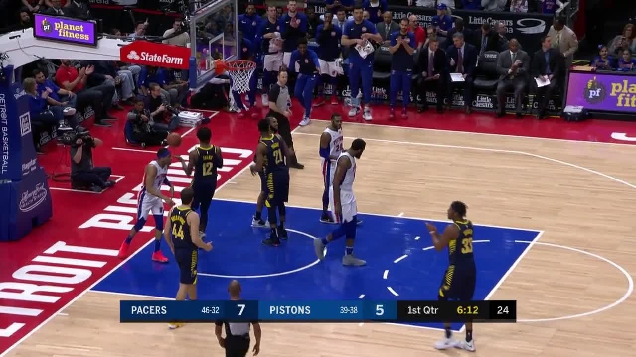 1st Quarter, One Box Video: Detroit Pistons vs  Indiana Pacers