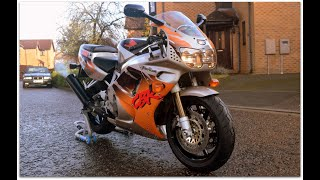 "FOR SALE (NOW SOLD) £6,250 - 1995 Honda CBR900RR FireBlade ""Urban Tiger"" walk around & start up"