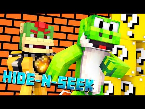 Minecraft Mario HIDE N SEEK w/ YOSHI! #3 (Roleplay Minigame)