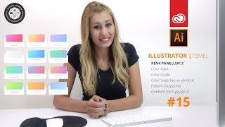 Adobe Illustrator CC Dersleri | #15 | Gradient - Renk panelleri Bölüm:2