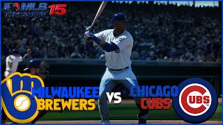MLB 15 The Show Chicago Cubs Franchise- The Comeback Kid vs Milwaukee Brewers