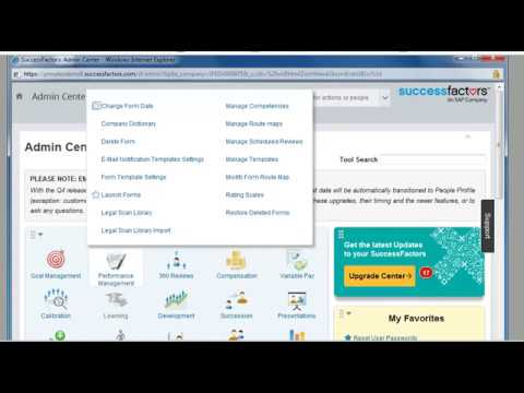 How to launch a form in Performance management in SAP Successfactors