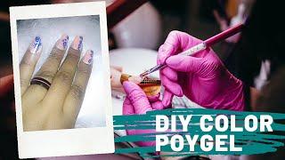 Diy Colored Polygel Mixing With Gel Polish #gelish #silentlyadorable #teamadorbs