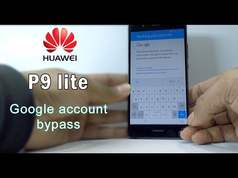 Huawei P9 Lite Google Account Remove