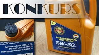 Konkurs! Wygraj darmowy olej silnikowy Luki-Oils 5W30 C4
