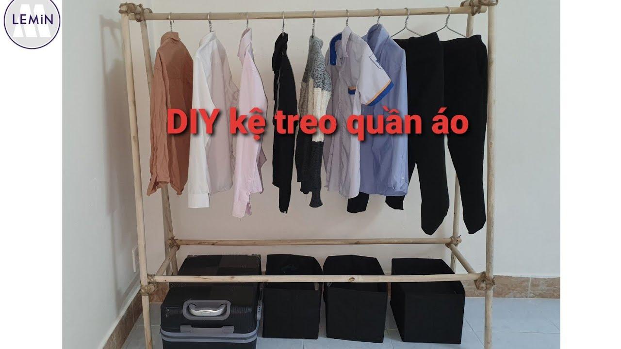 DIY – Cách làm giá treo quần áo gỗ đơn giản – How to make wooden clothes racks simple.