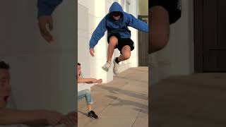 Invisible rope prank / TwinsFromRussia latest tiktok #shorts