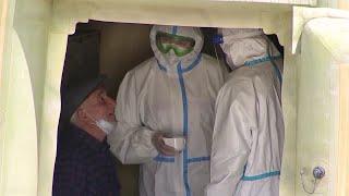 Фото В Дагестане помощь заболевшим COVID-19 оказывают военные врачи.