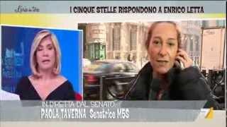 La senatrice Taverna (M5S) risponde a Letta dopo le accuse alla camera