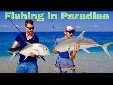 Trevally & Cod On Surface Lures. Land-Based Australian Island Fishing - FISHING THE WILD (Flashback)