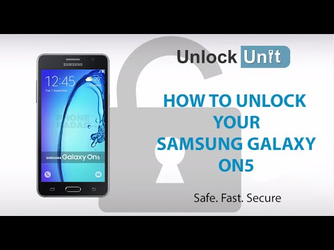 HOW TO UNLOCK Samsung Galaxy On5