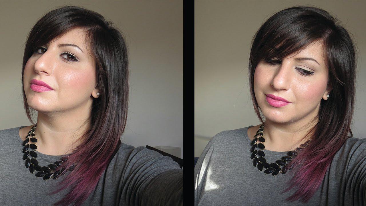 Favoloso HOW TO ♥ Hair ♥ Capelli più scuri & Punte viola - YouTube TI59