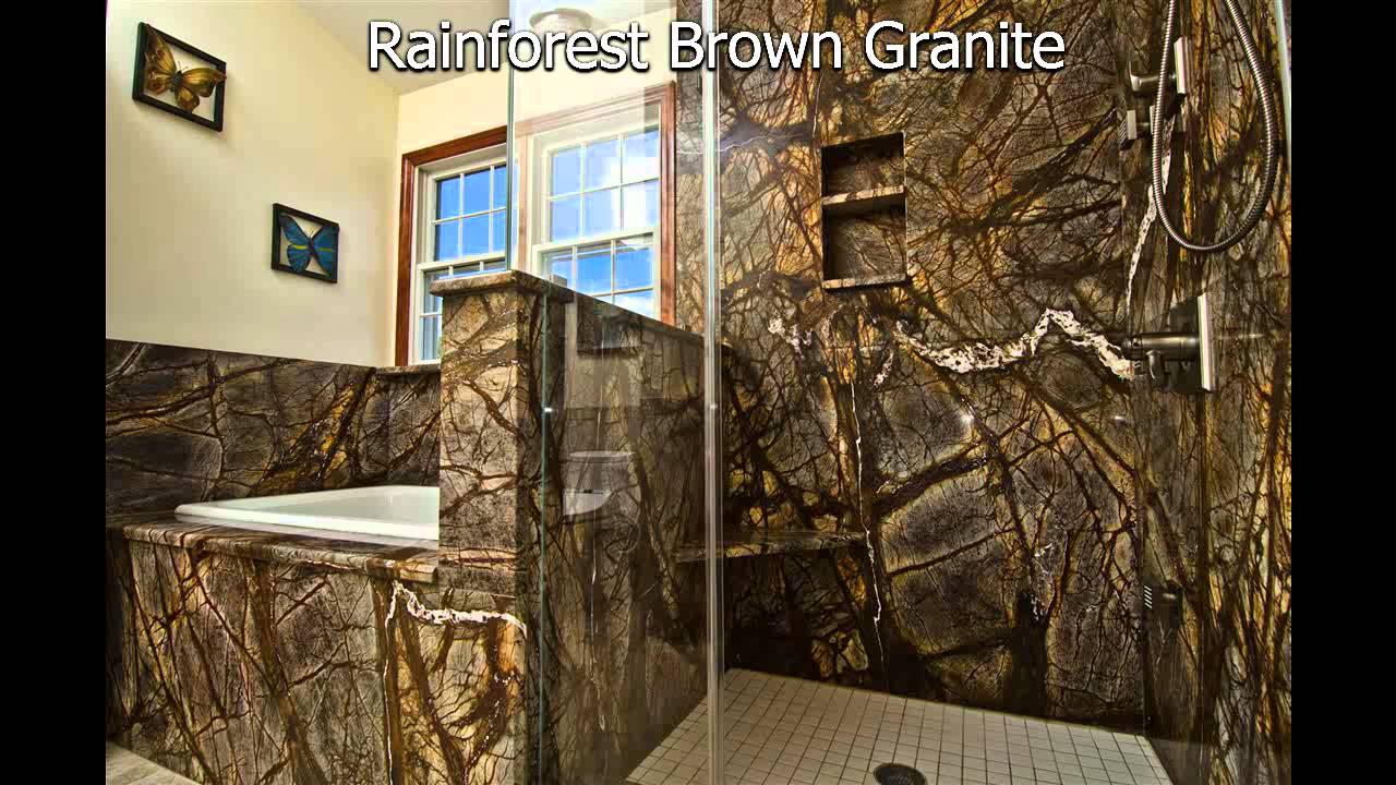Rainforest Brown Granite Bathroom By Granite Grannies