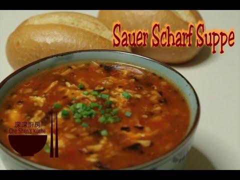 Chinesische suppe süß sauer scharf