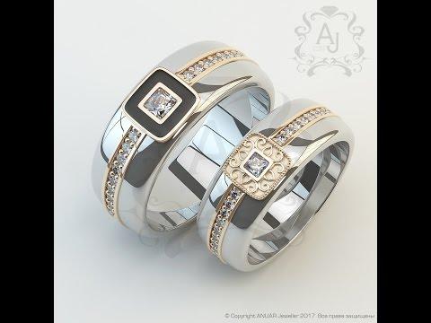 Эксклюзивная обручальная пара от AJ I Белое золото и бриллианты
