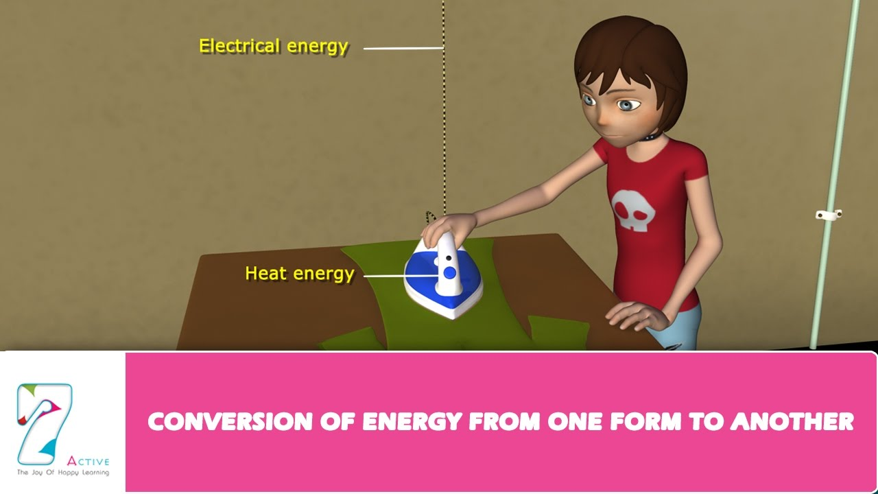CONVERSION OF ENERGY FROM ONE FORM TO ANOTHER - YouTube
