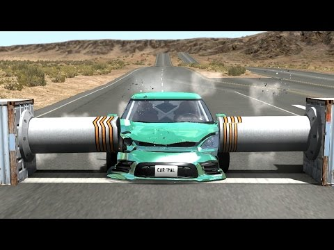 Thumbnail: Beamng drive - Double Side Bollards car Crashes