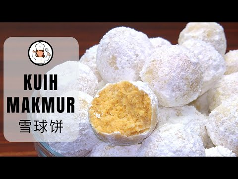 Kuih Makmur | Snowball Cookies | 雪球饼 | Norah's Cooking Diary