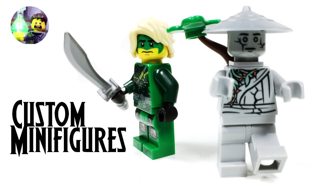 Lego Ninjago Power Less Lloyd And Oni Titan Custom Minifigures From