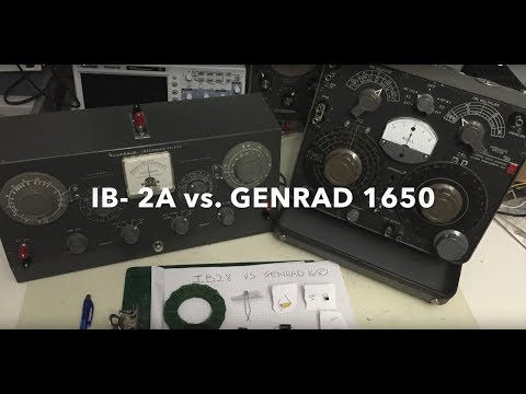 Heathkit Impdance Bridge IB-2A versus Genrad 1650A