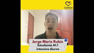 Jorge Mario Rubio, estudiante A1.1 intensivo diurno
