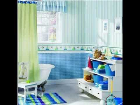 Bathroom Wallpaper Borders   YouTube