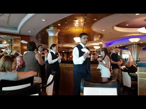 Singing waiters aboard the Explorer of the Seas