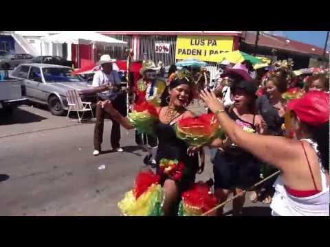 yuneidy en el carnaval de curacao 2012