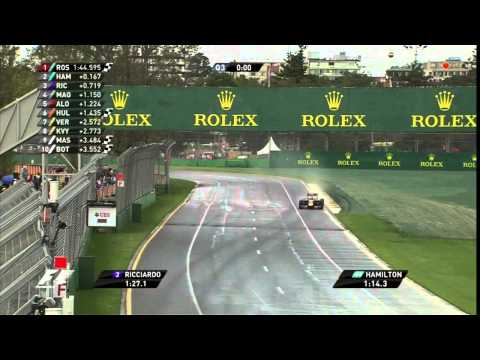 The crowd during the 2014 Australian grand prix qualifying