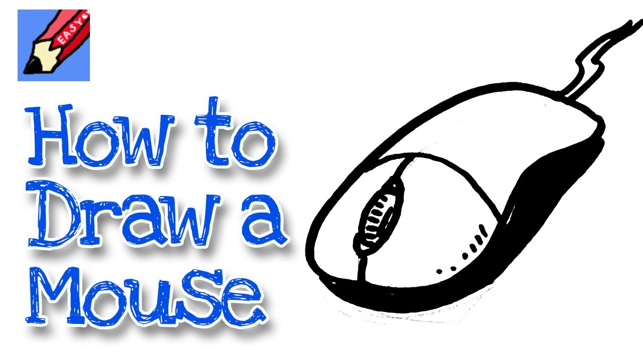 How to draw a computer mouse real easy for kids and beginners