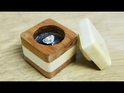 How to make a ring box out of wood - DIY Ring Box
