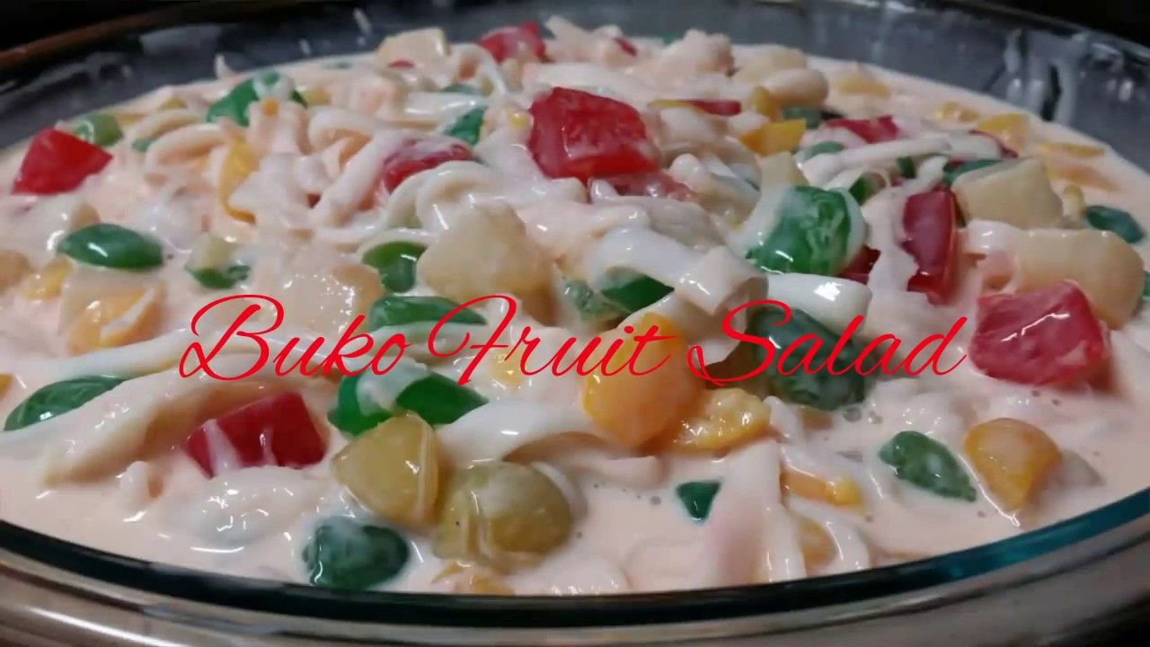 Buko Fruit Salad Recipe Youtube