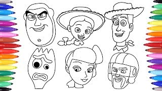 TOY STORY 4 ALL CHARACTER FACES DRAWING FOR KIDS