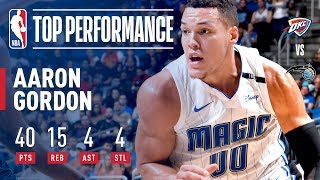 Aaron Gordon Scores 40 in Big Win vs. Thunder | November 29, 2017