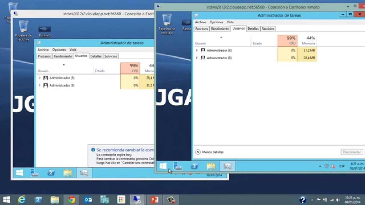 Windows server 2012 r2 permitir m ltiples sesiones re doovi - Reiniciar escritorio remoto ...